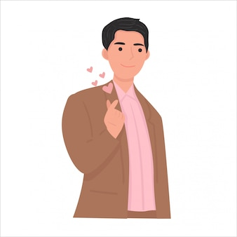 Koreanische liebeszeichen-gestenillustration