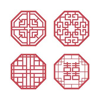 Koreanische traditionelle design-elemente