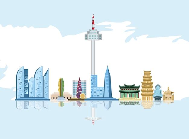 Koreanische wolkenkratzer berühmte sehenswürdigkeiten