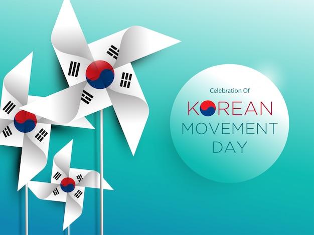 Koreanischer bewegungstag