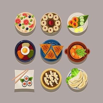 Koreanisches essen illustration