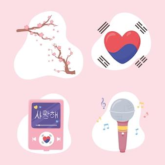 Koreanisches kpop-set