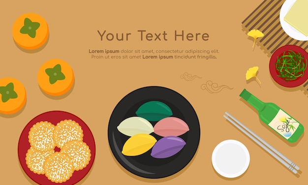 Koreanisches traditionelles chuseok-essen