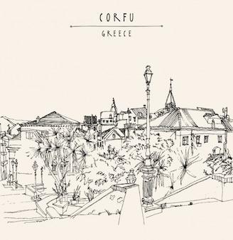 Korfu hintergrund-design