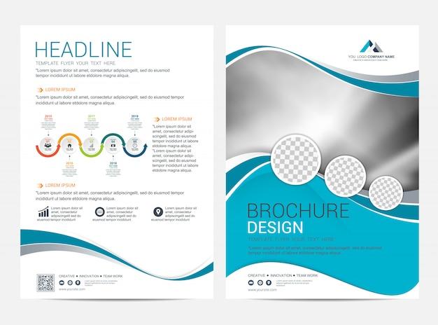 Korporative broschürenlayoutschablone, broschürenfliegerdesign