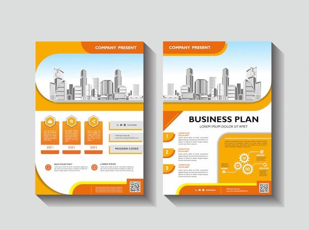 Korporative flyer layout vorlage für den jahresbericht