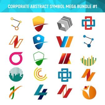 Korporatives abstraktes symbol-mega- bündel