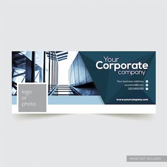Korporatives facebook-zeitachse-abdeckungs-schablone