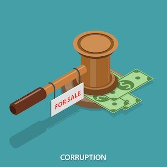 Korruption isometrisch flach