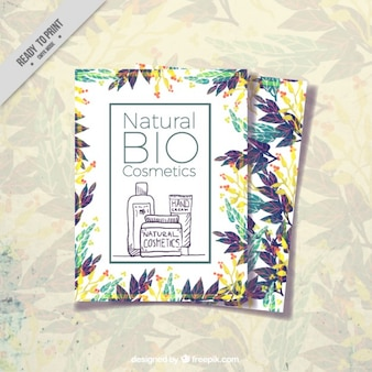 Kosmetik broschüre design