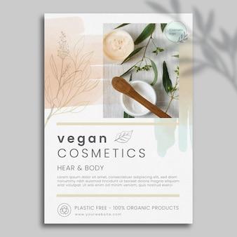 Kosmetik-flyer-vorlage mit foto