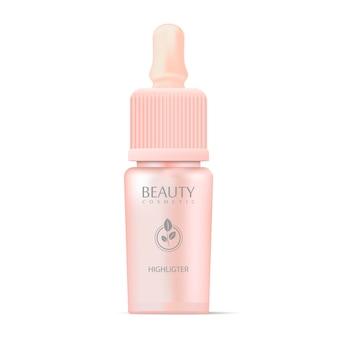 Kosmetik-highligter-flasche mit pipette