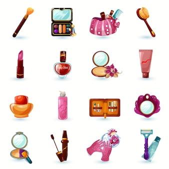 Kosmetik icons set