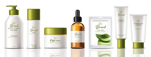 Kosmetik set kollektion produkte realistisch