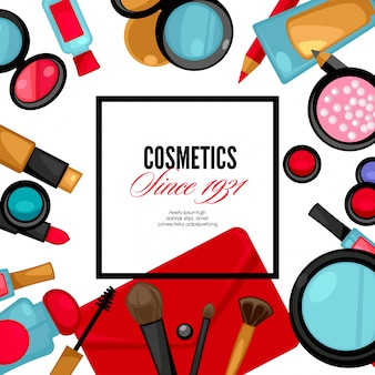 Kosmetik- und modehintergrund