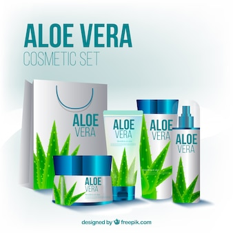 Kosmetikausrüstung für aloe vera