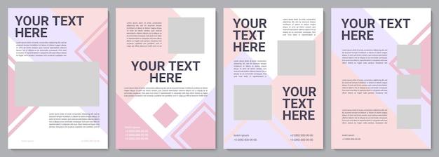 Kosmetikbroschüre vorlage. infos für kunden. flyer, broschüre, broschürendruck, cover-design mit kopierraum. dein text hier. vektorlayouts für zeitschriften, geschäftsberichte, werbeplakate