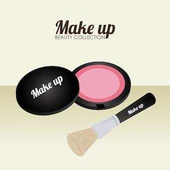 Kosmetikdesign über beige illustration