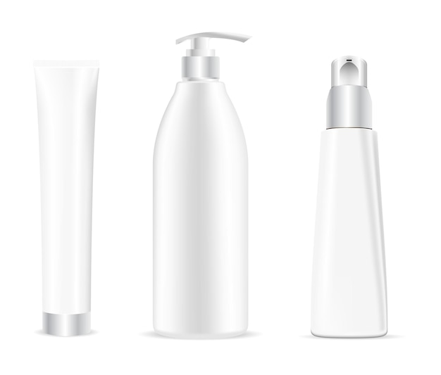 Kosmetikflasche. weiße shampoo-paketvorlage