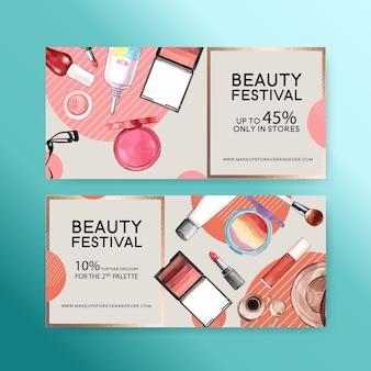 Kosmetikgutschein mit lippentönung und wimpernzange