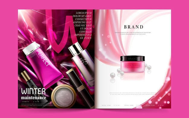 Kosmetikmagazinschablonenillustration