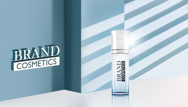 Kosmetikprodukt mit schatten und licht aus dem fenster