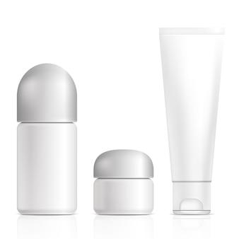 Kosmetikprodukte. illustration lokalisiert auf weißem hintergrund.