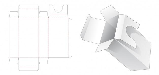 Kosmetikverpackung mit stanzschablone für den einsatzhalter