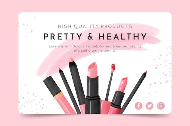 Kosmetische banner vorlage