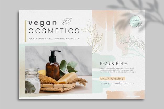 Kosmetische bannervorlage mit foto