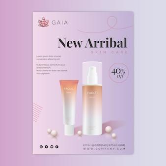 Kosmetische flasche flyer vorlage