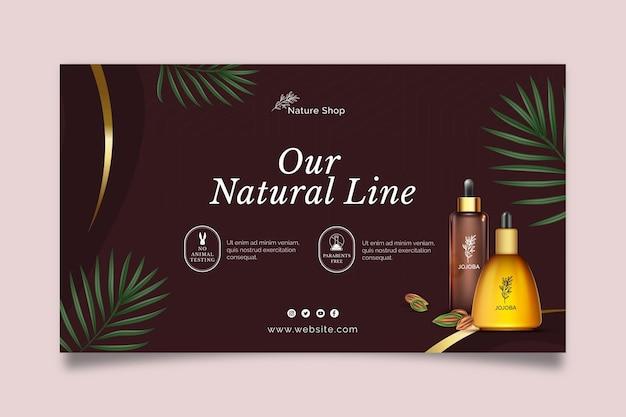 Kosmetische horizontale fahnenschablone des schönheitsöls