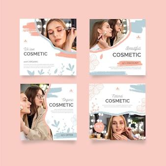 Kosmetische instagram beiträge vorlage Kostenlosen Vektoren