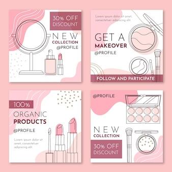 Kosmetische instagram-beiträge