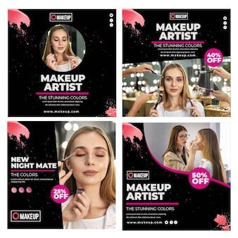 Kosmetische instagram post sammlung