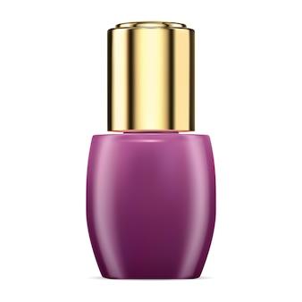 Kosmetische kollagenserumbehälter-tropfflasche für die werbung für die pipettenbehandlung