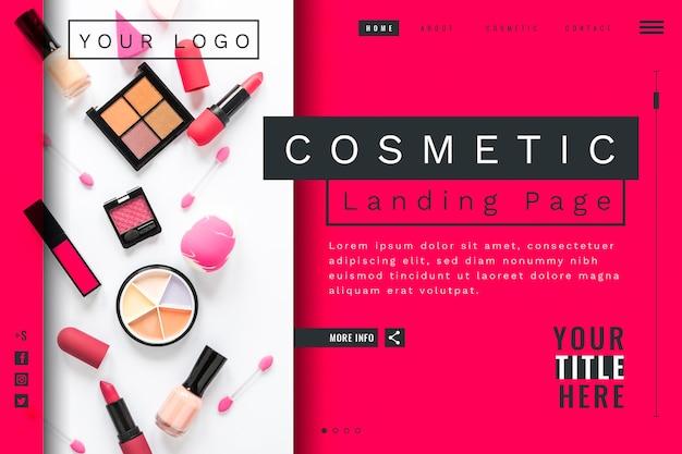 Kosmetische landingpage-vorlage