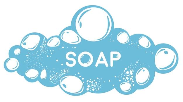 Kosmetische produkte und hygiene, isolierte seife und wasser mit blasen