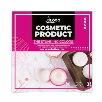 Kosmetische quadratische flyer-vorlage