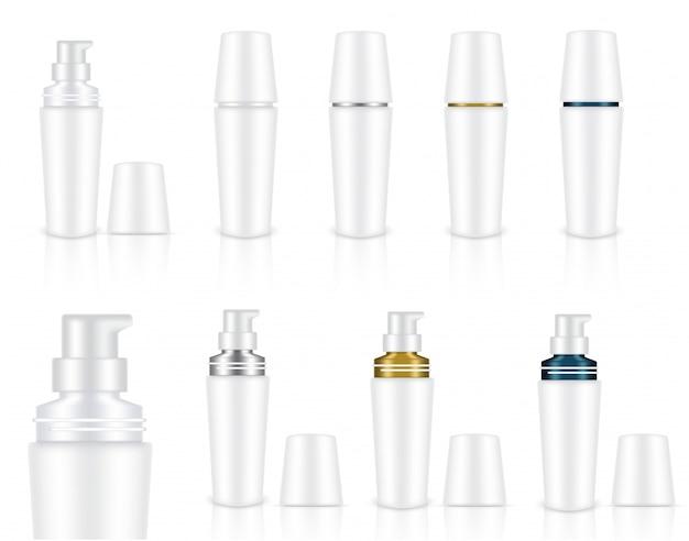 Kosmetische seifengel-flaschen
