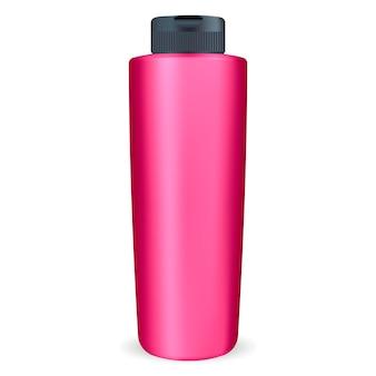 Kosmetische shampoo- oder duschgelflasche.