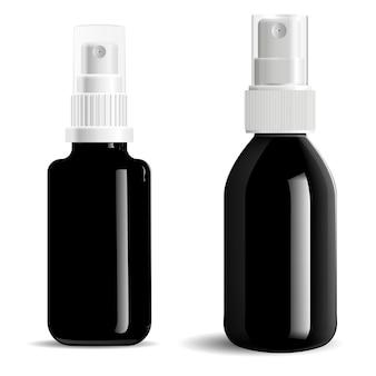 Kosmetische spray schwarze flasche
