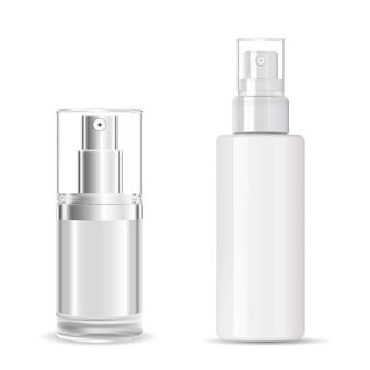 Kosmetische sprühflasche. design von kunststoffverpackungen