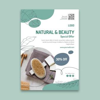 Kosmetische vertikale flyer-vorlage