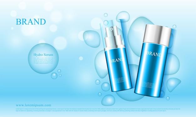 Kosmetische werbung funktioniert mit dem wasserkonzept