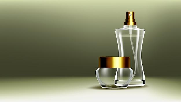 Kosmetischer glasbehälter