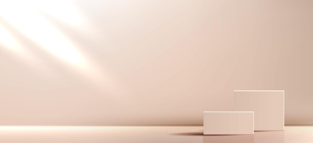 Kosmetischer hintergrund für produktminimalszene mit geometrischen formen abstrakter hintergrund