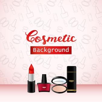 Kosmetischer hintergrund, produkt-promo-werbungs-fahnen-design