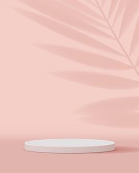 Kosmetischer pastellrosa hintergrund minimale und erstklassige podiumsanzeige.