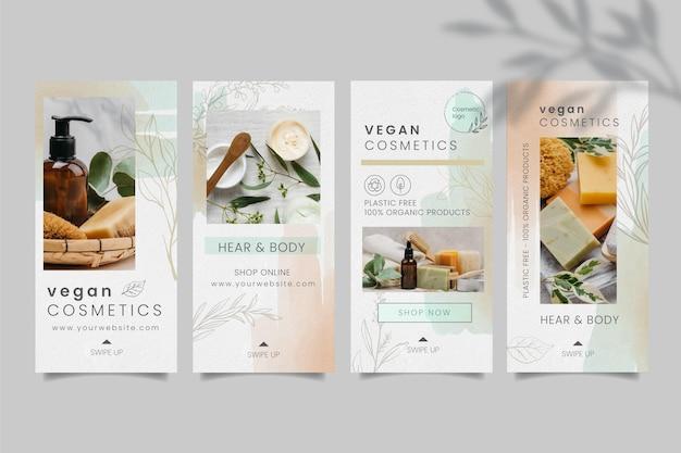 Kosmetisches instagram-stories-paket